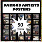 Famous Artists Posters -25+ Art Posters - Art Classroom Decor- GROWING BUNDLE