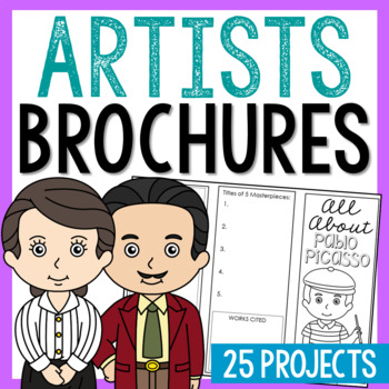 19 Famous Artists Research Brochure Projects, Mini Book, Interactive Notebook