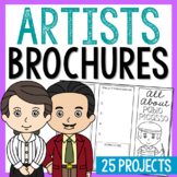 Famous Artists Research Brochure Projects Activity | Art H