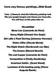 Famous Artists Webquest Project
