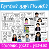 Famous Asian American Pacific Islanders Coloring Pages and
