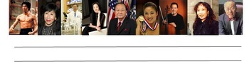 Famous Asian Americans Writing Template