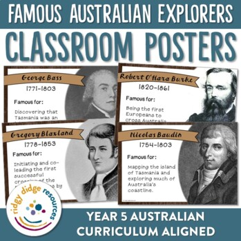 Famous Australian Explorers - Posters