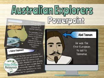 Famous Australian Explorers Powerpoint and Lapbook Activities Unit