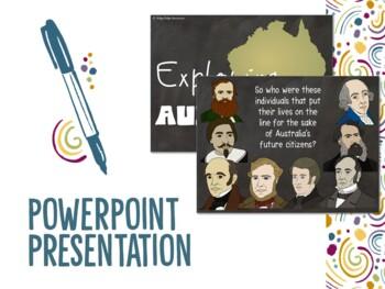 Famous Australian Explorers Powerpoint and Unit Plan