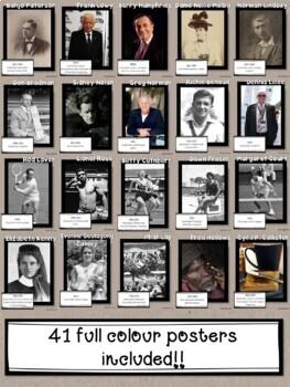 Famous Australians Federation to Present Classroom Decor Posters