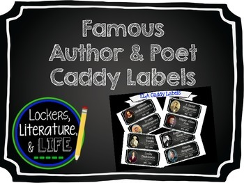 Famous Author & Poet Caddy Labels