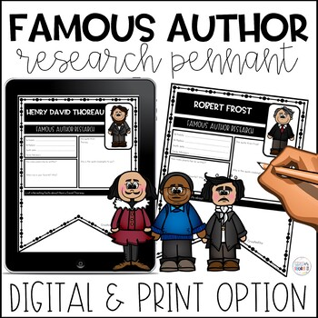 Famous Author Study Activities Research Pennants