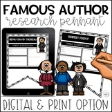Famous Author Research Pennants | Distance Learning | Digi