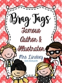 Famous Author and Famous Illustrator Brag Tags