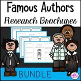 Famous Authors Research Brochure Author Bio Interactive Notebook BUNDLE