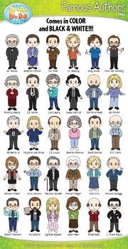 Famous Authors Characters Clipart {Zip-A-Dee-Doo-Dah Designs}