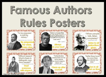 Famous Authors Classroom Rules