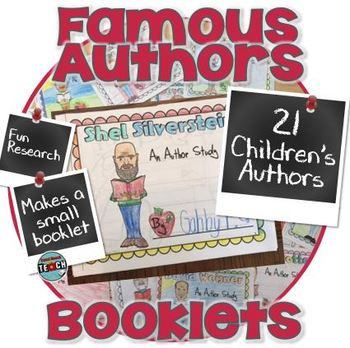 Famous Authors Research Booklets - Poets & Authors of Chil