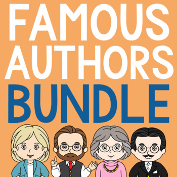FAMOUS AUTHORS Research Brochures and Coloring Pages BUNDLE