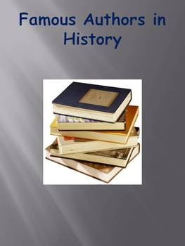 Famous Authors in History