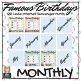 Famous Birthdays Monthly QR Code Scavenger Hunts Growing Bundle