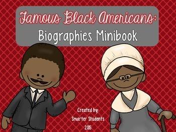 Famous Black Americans Biographies Minibook