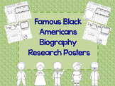 Famous Black Americans Research Biography Posters Graphic