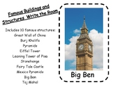 Famous Buildings and Structures Write the Room