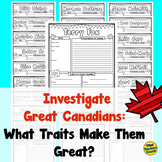 Famous (Great) Canadian Research Report Posters or Graphic Organizers