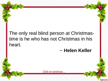 Famous Christmas Quotes PPT