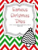 Famous Christmas Titles CCLS L.5.2