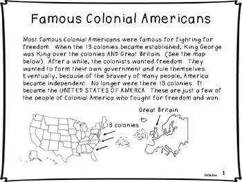 Ben Franklin, Paul Revere, Crispus Attucks, Samuel Adams, Molly Pitcher
