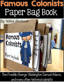 Famous Colonists Paper Bag Book