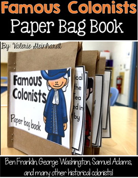 Famous Colonists Paper Bag Book