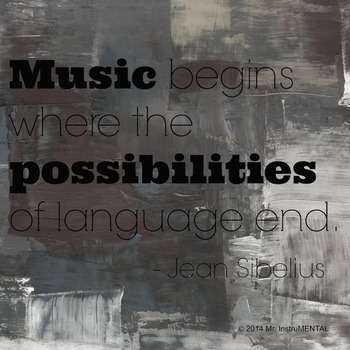 Famous Composer Quotes - 5 Posters