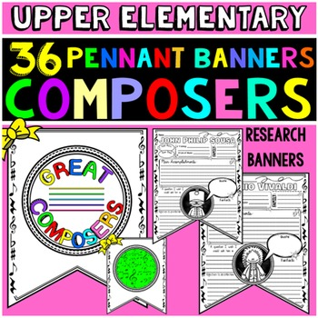 Famous Composers Activity: Writing Activity: Research Project Banner