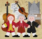 Famous Composers Clip Art Set 01 BUNDLE