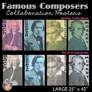 Famous Composers - Collaboration Portrait Poster BUNDLE