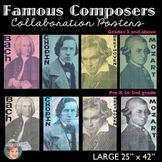 Famous Composers - Collaboration Portrait Poster BUNDLE