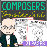 FAMOUS COMPOSERS Coloring Pages, Crafts, Mini Books, Interactive Notebooks