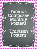 Famous Composers Posters