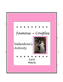 Famous Couples Activity  ♥  Valentine's Day