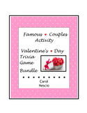 Famous Couples Activity  ♥  Valentine's Day Trivia Game Bundle