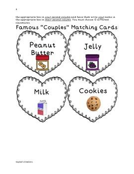 "Famous ""Couples"" Partner Pairing Activity"