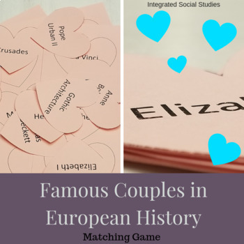 Famous Couples in European History Matching Game