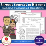 Famous Couples in History Reading Passages [GROWING]
