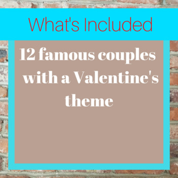 Famous Couples in World History Matching Game