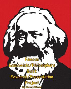 Famous Economists/Philosophers Quick Research/Presentation