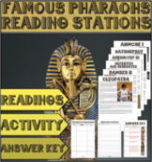Famous Egyptian Pharaohs Reading Station
