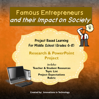 Famous Entrepreneurs and Their Impact on Society - Research & PowerPoint Project