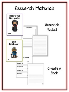Famous Explorers 2 Research Project 13 People Vocab Rubrics, Packet, Book & More