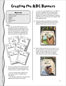 Famous Explorers: ABC Mini-Research Reports & Bulletin Board Projects