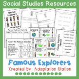 Famous Explorers Adapted Mini Unit-A VAAP Resource