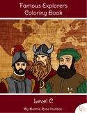 Famous Explorers Coloring Book-Level C